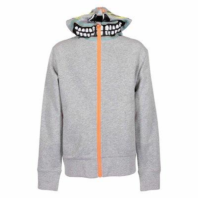 Melange grey organic cotton hoodie
