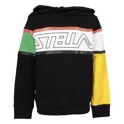 Black logo detail hoodie