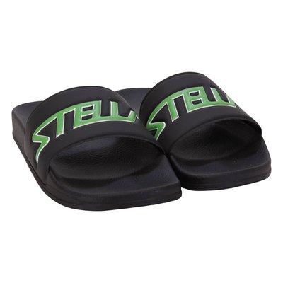 Black logo detail rubber sandals