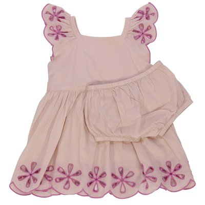 Pink cotton dress and coulottes