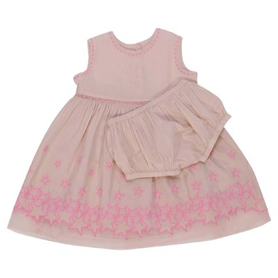 Powder pink organic cotton dress and coulottes