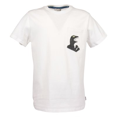 White cotton jersey t-shirt