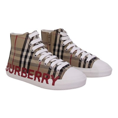 Sneakers alte Mini LARKHALL Vintage Check in cotone con logo