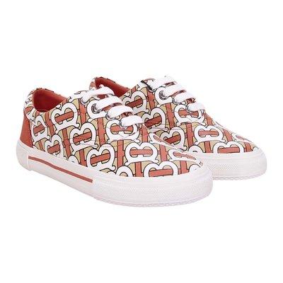 Monogram cotton gabardine Mini SKATE sneakers