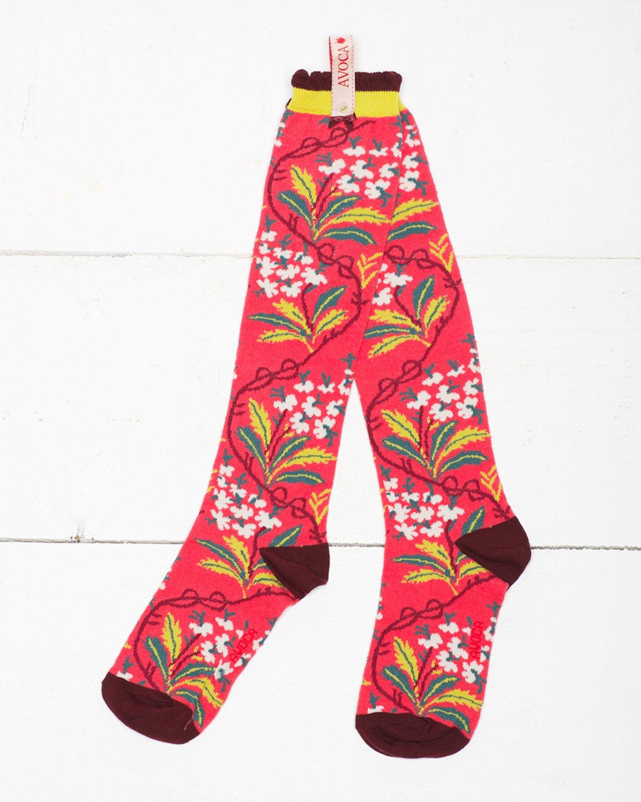 Oak Hydrangea Knee Sock