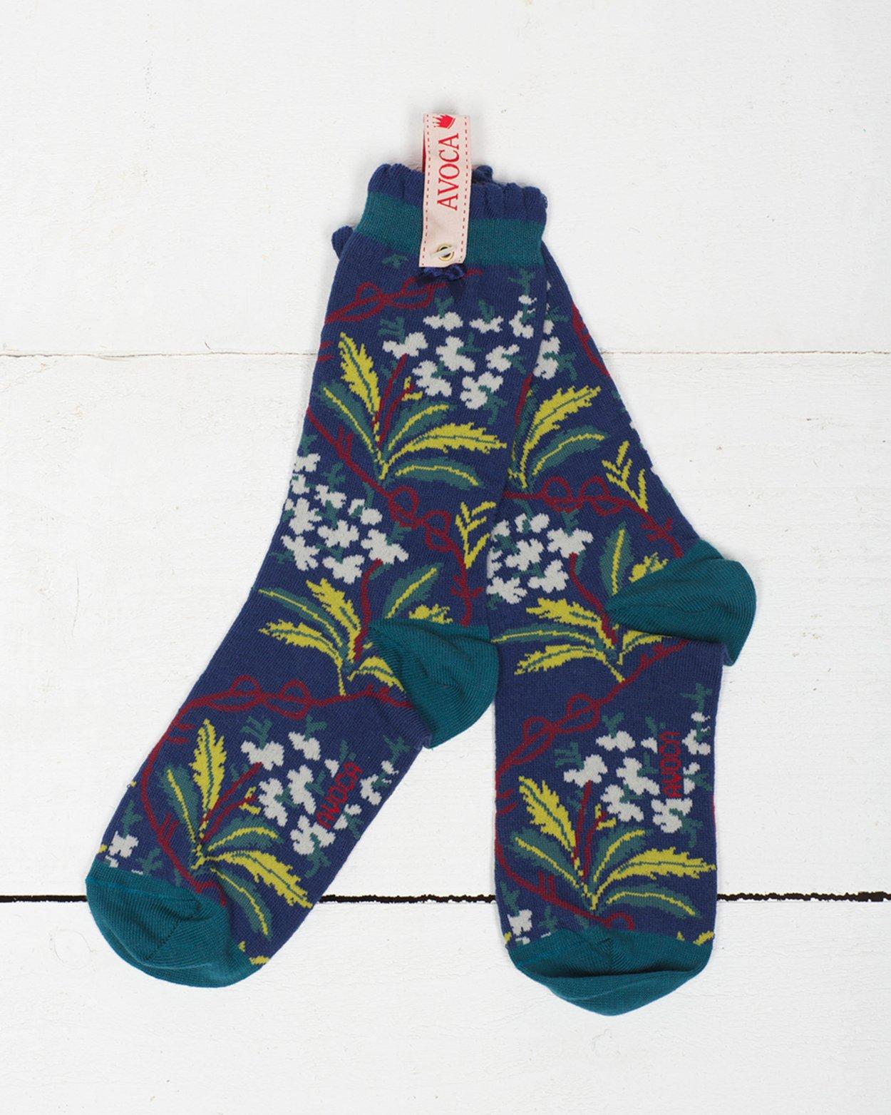 Oak Hydrangea Ankle Sock