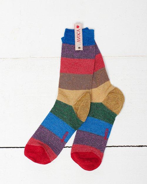 Glitter Rainbow Ankle Sock
