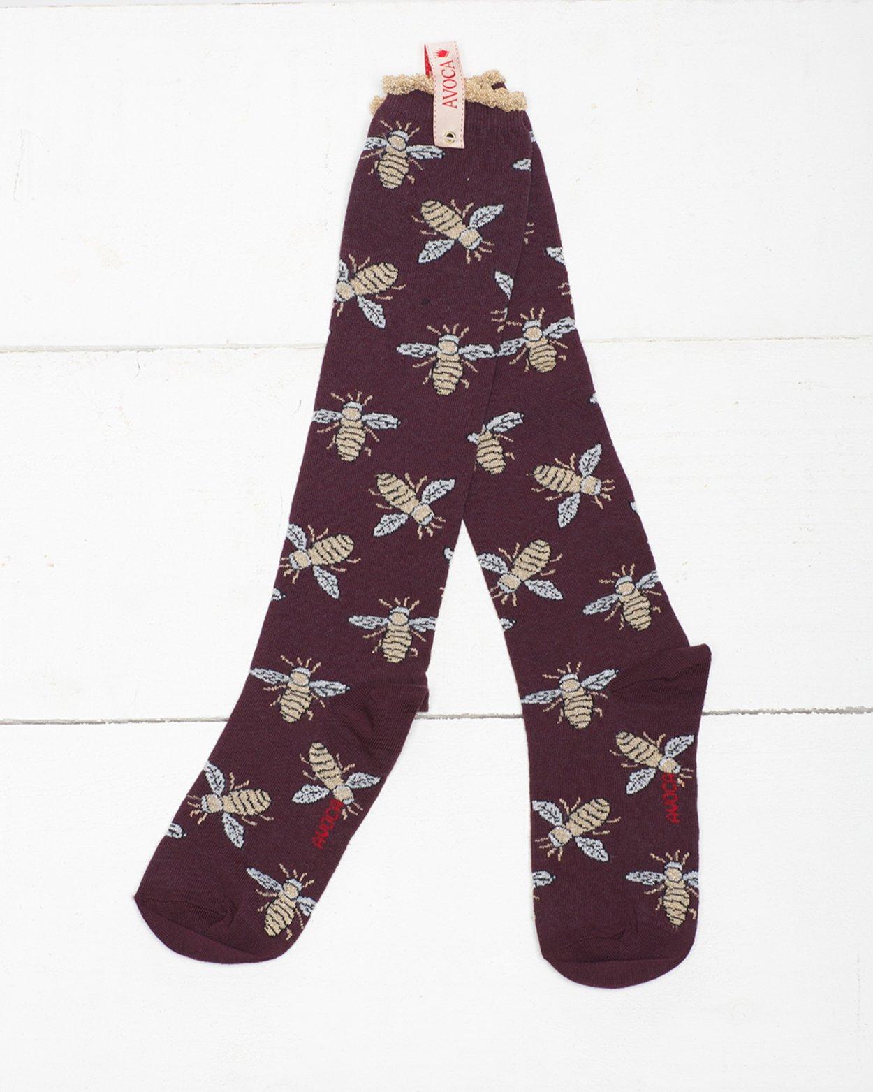 Glitter Bees Knee Sock