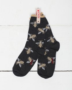 Glitter Bees Ankle Sock