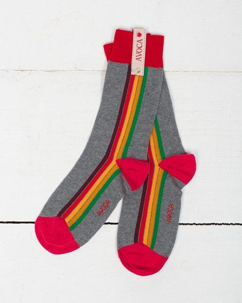 Retro Stripe Ankle Sock