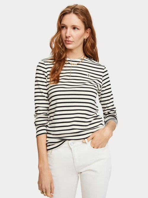 Breton Stripe Long Sleeve Tee-Shirt