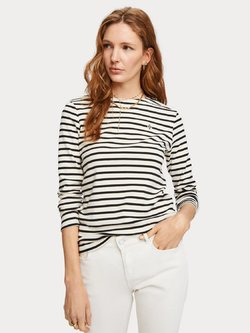 Breton Stripe Long Sleeve Tee-Shirt