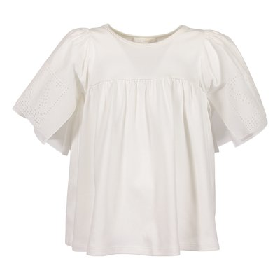 White cotton jersey top