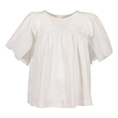 Top bianco in jersey di cotone