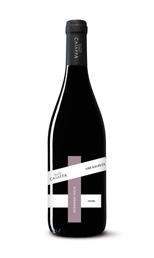 Negroamaro Puglia IGT Mezzogiorno by Caiaffa (Case of 6 - Italian Organic Red Wine)