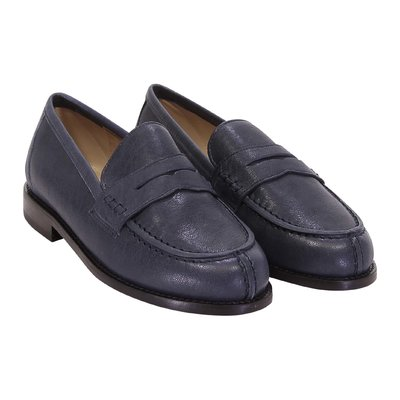 Prosperine blue leather loafers