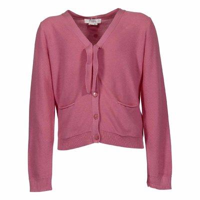 Pullover rosa in maglia di cotone