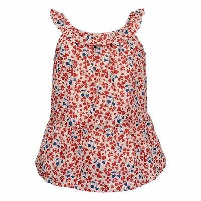 Floral print cotton blouse
