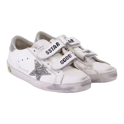 White leather glitter Star Old School Edt sneakers
