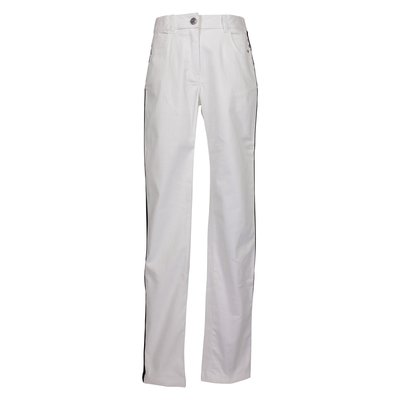 White cotton denim stretch jeans