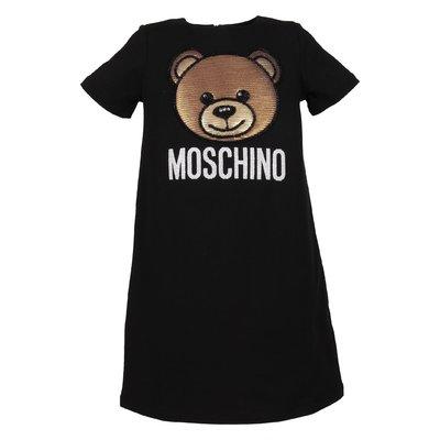 Abito nero Teddy Bear in cotone