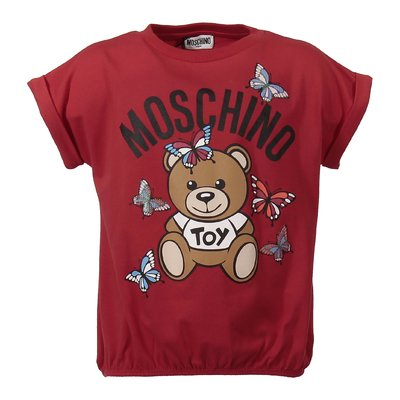 T-shirt rossa Teddy Bear in jersey di cotone