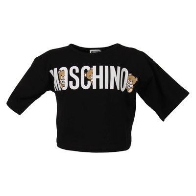 Black logo detail cotton jersey t-shirt