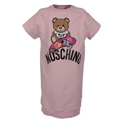 Abito rosa Teddy Bear in felpa di cotone