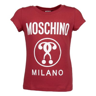 Red cotton jersey Moschino Milano t-shirt