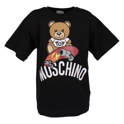 Black cotton jersey Teddy Bear t-shirt
