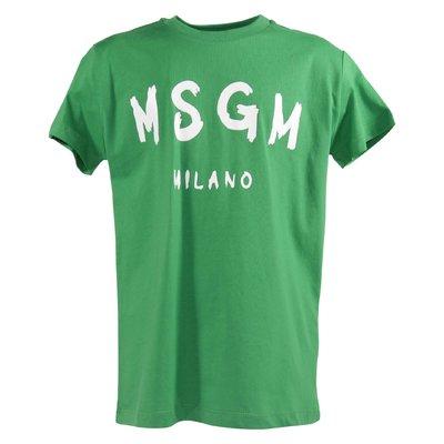 Green logo cotton jersey t-shirt