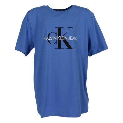 Blue logo detail organic cotton jersey t-shirt