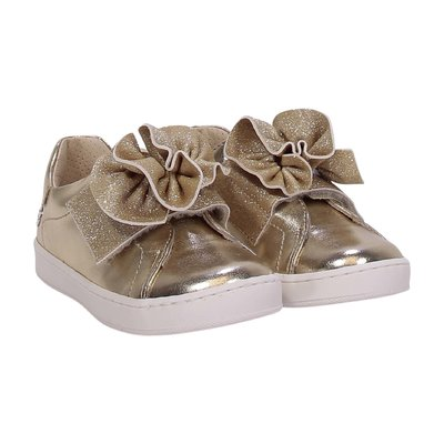 FLORENS golden faux leather sneakers