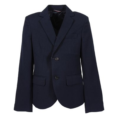 Navy blue satin lining formal blazer