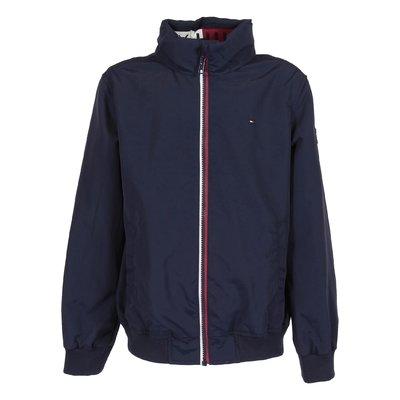 Navy blue nylon jacket