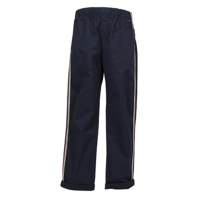 Navy blue logo detail cotton pants