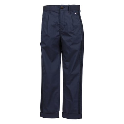 Blue cotton blend pants