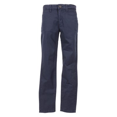 Navy blue cotton gabardine pants