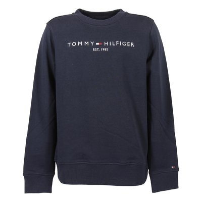 Navy blue logo detail cotton sweatshirt