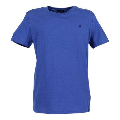 Blue logo detail cotton jersey t-shirt