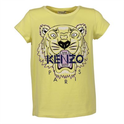 Yellow Tiger cotton and modal t-shirt