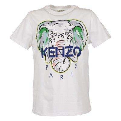White cotton jersey Elephant t-shirt