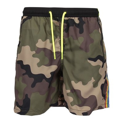 Costume shorts da mare camouflage in nylon