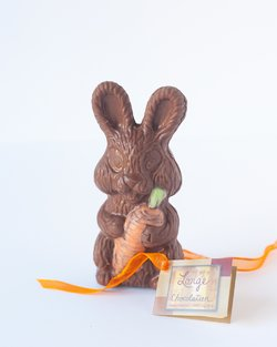 Lorge Chocolatier Easter Bunny with Carrot