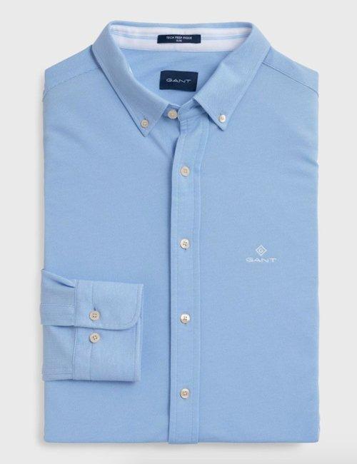 Camicia Gant slim fit - Azzurro