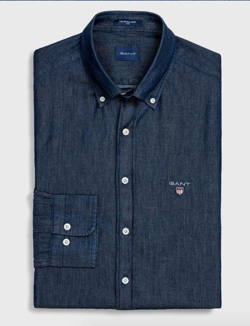 Camicia Gant effetto denim - Blu