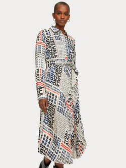 Pleated Satin Midi Dress