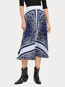 Pleated Satin Skirt