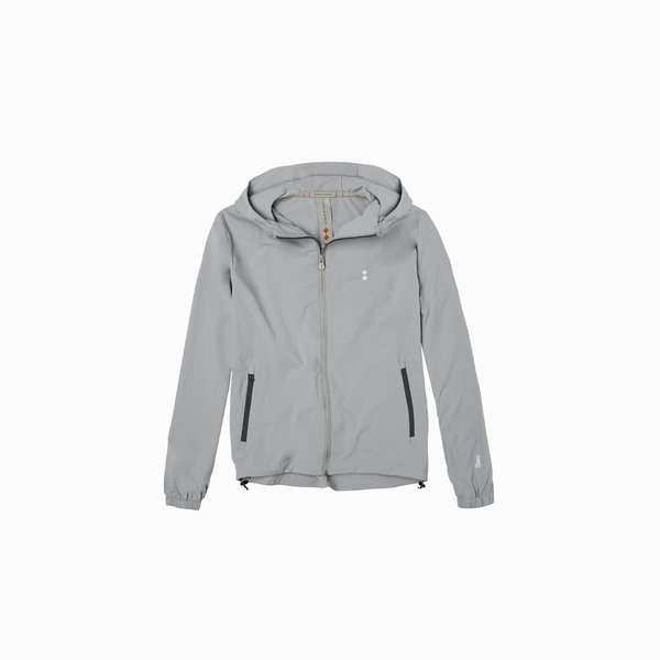 Men's jacket E58 with silver claim on the hood