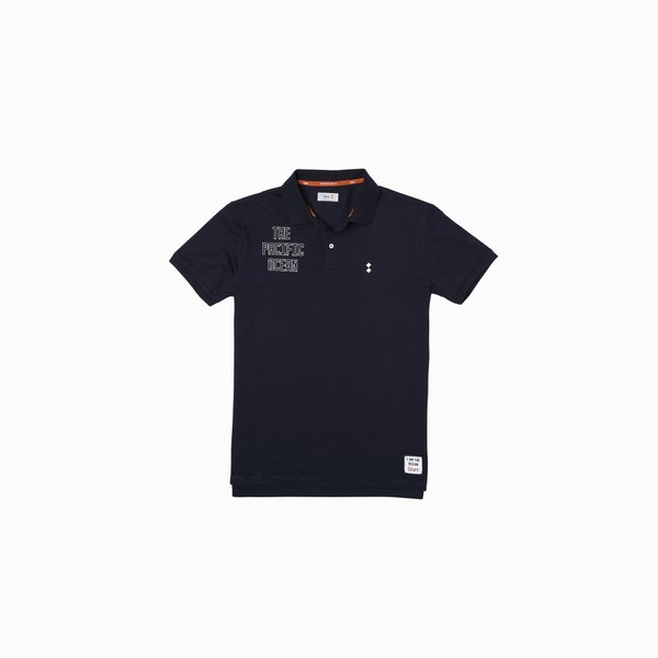 Men's Polo E82 in stretch cotton with short sleeves